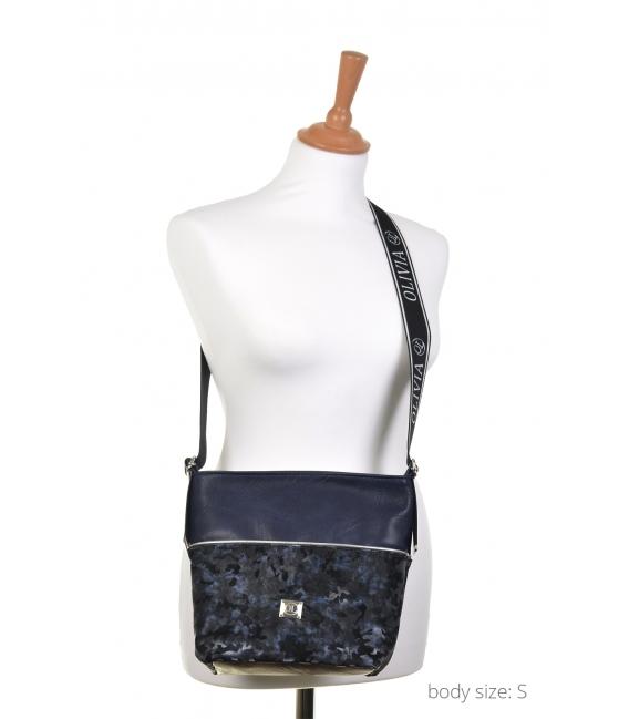 Modrá maskáčová crossbody kabelka NINA