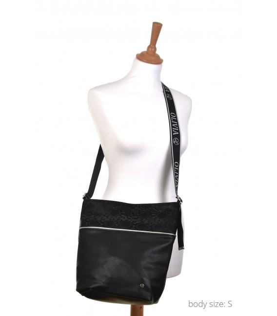 Čierna maskáčová crossbody kabelka NINA