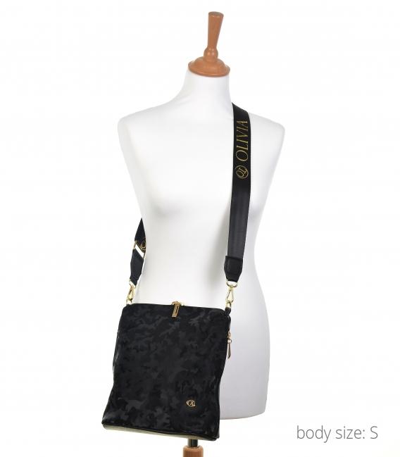 Čierna maskáčová kabelka BODZIO