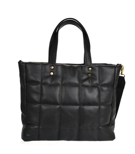 Veľká čierna prešívaná kabelka ANDREA