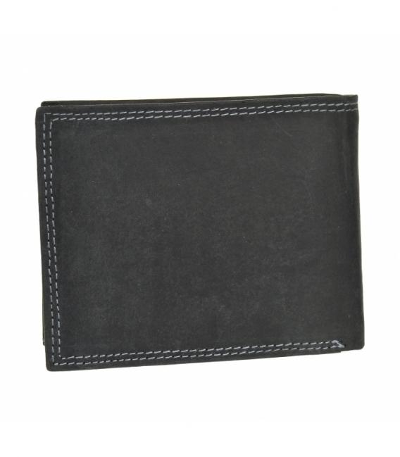 Pánska kožená čierna peňaženka GROSSO ZM-128R-033