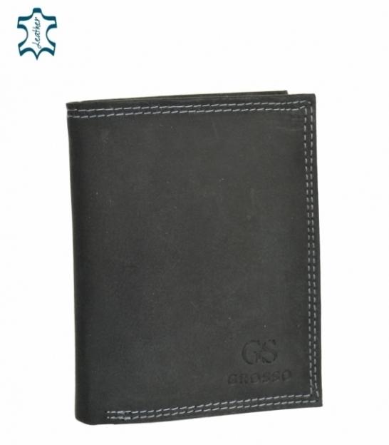 Pánska kožená čierna peňaženka GROSSO ZM-128R-034