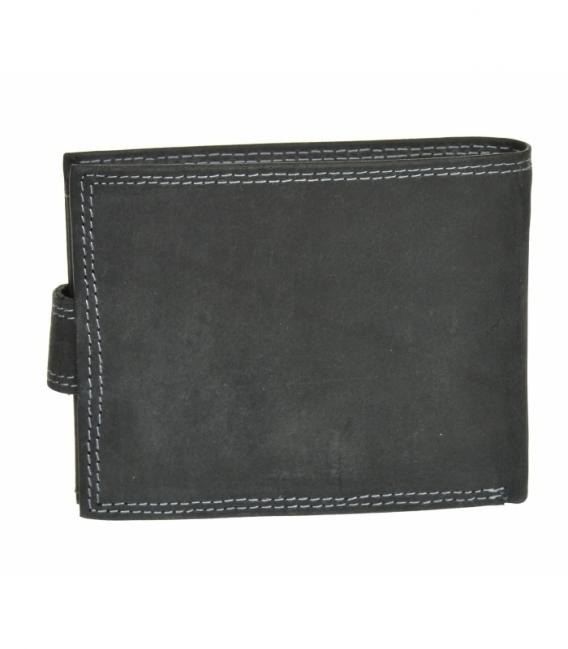 Pánska kožená čierna peňaženka GROSSO ZM-128R-032