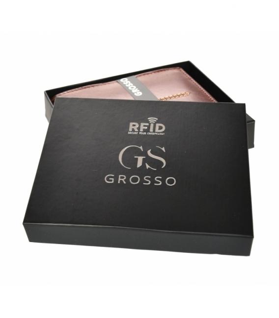 Pánska kožená koňaková peňaženka s prešívaním GROSSO TMS-51R-033cognac